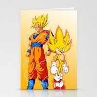 Super Sonic Warriors Z Stationery Cards