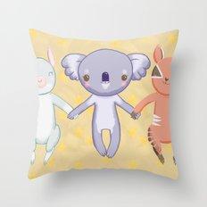 Australian Fauna Throw Pillow
