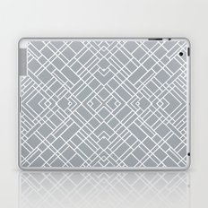 Map Outline 45 Grey Repeat Laptop & iPad Skin