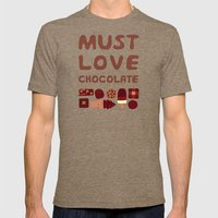 Must Love Chocolate Mens Fitted Tee Tri-Coffee SMALL