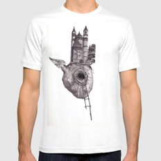 The Heart of The City Mens Fitted Tee White SMALL