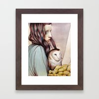 The Girl and the Owl Framed Art Print