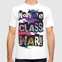 NO MORE CLASS WAR Mens Fitted Tee White SMALL