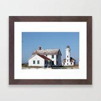 A perch by the Sea Framed Art Print