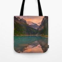 Autumn In Lake Louise Tote Bag