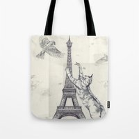 cat attack Tote Bag