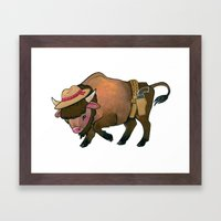 Wild West Buffalo Framed Art Print