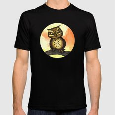 Cute owl. Mens Fitted Tee Black SMALL