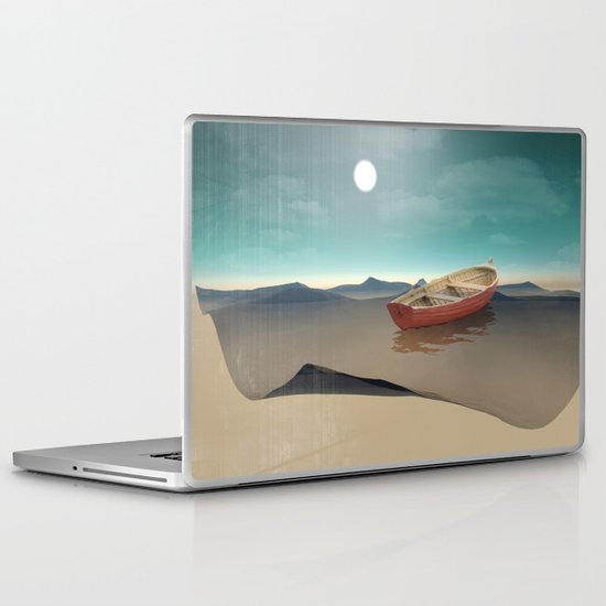 at sea in a void Laptop & iPad Skin