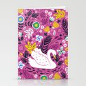 Delightful Swan Stationery Cards
