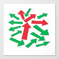 red arrow over green Canvas Print