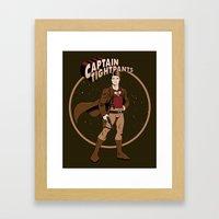 Captain Tightpants Framed Art Print
