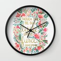 Little & Fierce Wall Clock