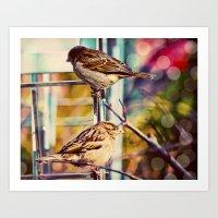 Birds On The Highline Art Print