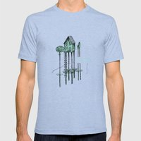 Home - ANALOG Zine Mens Fitted Tee Tri-Blue SMALL