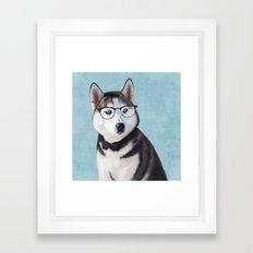 Mr Husky Framed Art Print