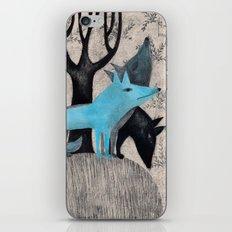 Beware, rabbit! Three wild dogs.  iPhone & iPod Skin