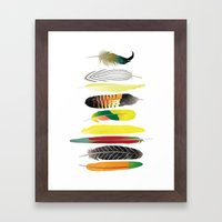Shake Your Tail Feather Framed Art Print