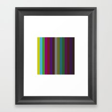 #455 Test pattern – Geometry Daily Framed Art Print