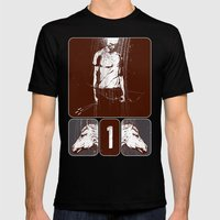 And He Rode Out As A Con… Mens Fitted Tee Black SMALL