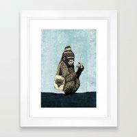 Music Gorilla Framed Art Print