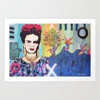Psychedelic Frida Art Print