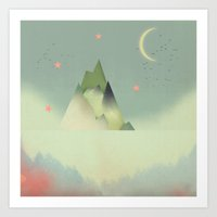 Abstract Cloudscape Art Print