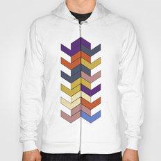 Geometric Chevrons Hoody