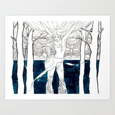 Druid Tree Art Print