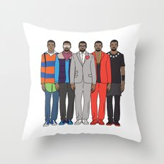 Evolution of Mr. West Throw Pillow