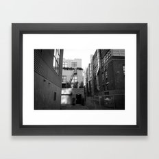 SF Back Alley Framed Art Print