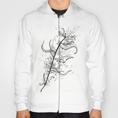 Abstract Art Unique Trending Bird Feather Sea Life Ocean Shells Sand Octopus  Hoody