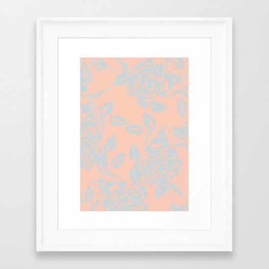 Rose is a Rose - Garden party Framed Art Print