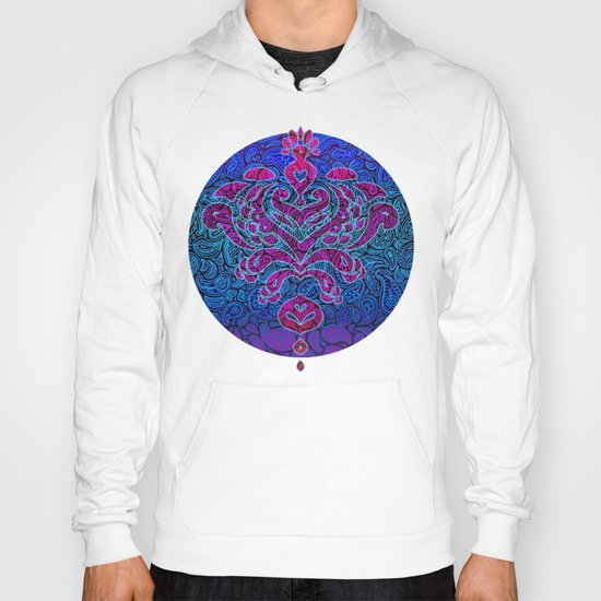 Purple Paisley - ombre paisley pattern in purple, blue and black. Hoody