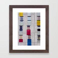 eastern european apartments in colour Framed Art Print