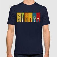 Justice Mens Fitted Tee Navy SMALL