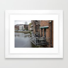 Oh just hanging around, having a coffe Framed Art Print