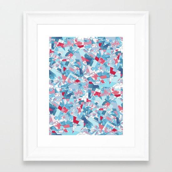 Shattered Floral Framed Art Print