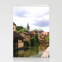 Chartres Canal, France Stationery Cards