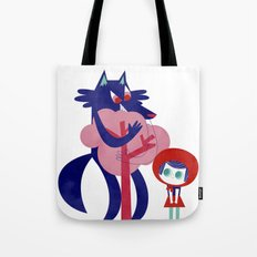 Red Riding Hood - tricolor version Tote Bag