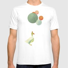 Balance SMALL White Mens Fitted Tee