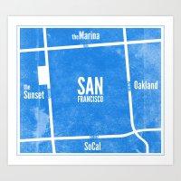 This is SF (Blue) Art Print