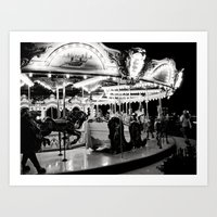 Navy Pier's Carousel At … Art Print