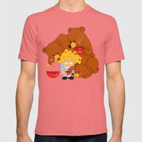 Goldilocks and the Three Bears Mens Fitted Tee Pomegranate SMALL