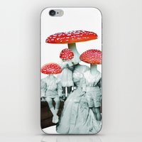amanita muscaria with children iPhone & iPod Skin
