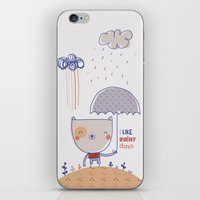 Rainy Days iPhone & iPod Skin