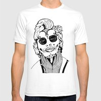 Dia De Los Marylin Mens Fitted Tee White SMALL