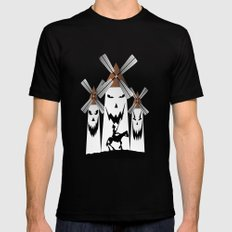 QUIXOTE Mens Fitted Tee Black SMALL