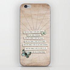 Reiki Principles No.2 iPhone & iPod Skin