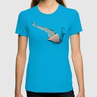 The Journey Of A Swan Womens Fitted Tee Teal SMALL